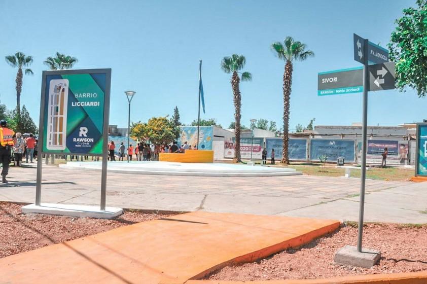 Inauguración de refacciones y mural en reconocimiento a los trabajadores esenciales de Rawson
